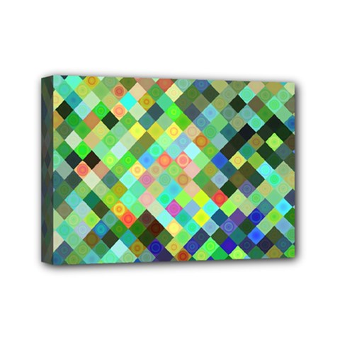 Pixel Pattern A Completely Seamless Background Design Mini Canvas 7  X 5