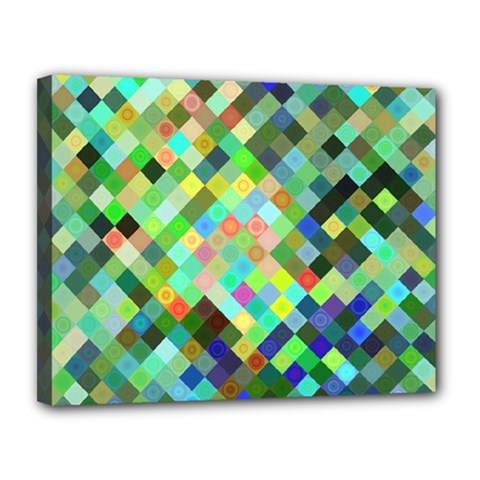 Pixel Pattern A Completely Seamless Background Design Canvas 14  X 11
