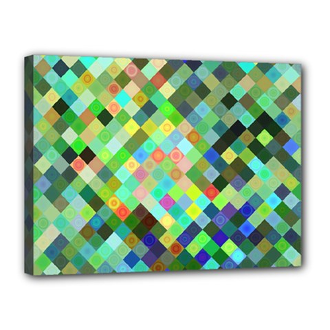 Pixel Pattern A Completely Seamless Background Design Canvas 16  X 12