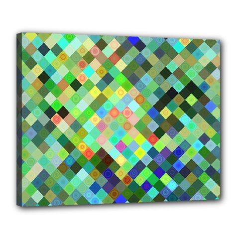 Pixel Pattern A Completely Seamless Background Design Canvas 20  X 16