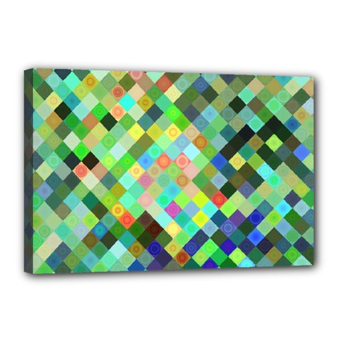 Pixel Pattern A Completely Seamless Background Design Canvas 18  X 12