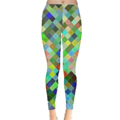 Pixel Pattern A Completely Seamless Background Design Leggings