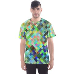 Pixel Pattern A Completely Seamless Background Design Men s Sports Mesh Tee
