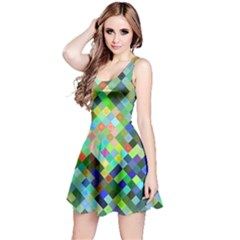 Pixel Pattern A Completely Seamless Background Design Reversible Sleeveless Dress