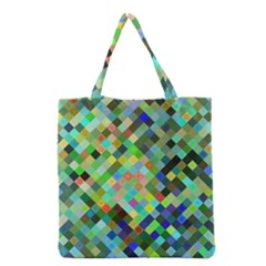 Pixel Pattern A Completely Seamless Background Design Grocery Tote Bag