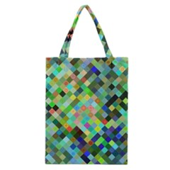 Pixel Pattern A Completely Seamless Background Design Classic Tote Bag
