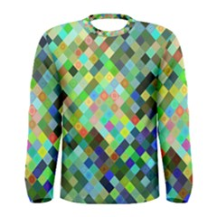 Pixel Pattern A Completely Seamless Background Design Men s Long Sleeve Tee