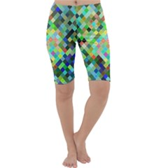 Pixel Pattern A Completely Seamless Background Design Cropped Leggings