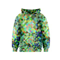Pixel Pattern A Completely Seamless Background Design Kids  Pullover Hoodie