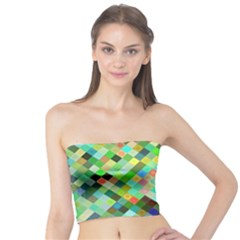 Pixel Pattern A Completely Seamless Background Design Tube Top