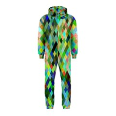 Pixel Pattern A Completely Seamless Background Design Hooded Jumpsuit (kids)