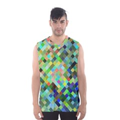 Pixel Pattern A Completely Seamless Background Design Men s Basketball Tank Top