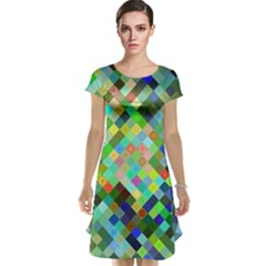Pixel Pattern A Completely Seamless Background Design Cap Sleeve Nightdress