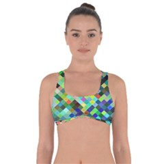 Pixel Pattern A Completely Seamless Background Design Got No Strings Sports Bra