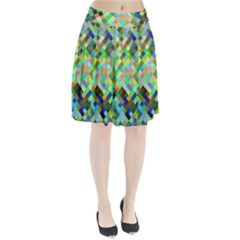 Pixel Pattern A Completely Seamless Background Design Pleated Skirt