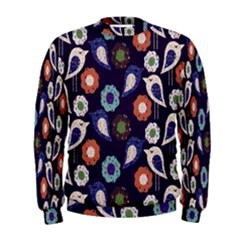 Cute Birds Seamless Pattern Men s Sweatshirt