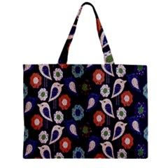 Cute Birds Seamless Pattern Zipper Mini Tote Bag