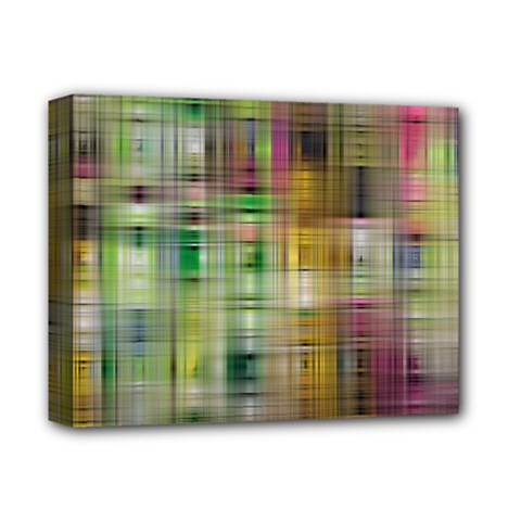 Woven Colorful Abstract Background Of A Tight Weave Pattern Deluxe Canvas 14  X 11