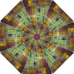 Woven Colorful Abstract Background Of A Tight Weave Pattern Hook Handle Umbrellas (small)