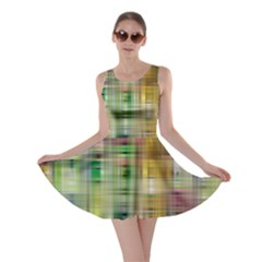 Woven Colorful Abstract Background Of A Tight Weave Pattern Skater Dress