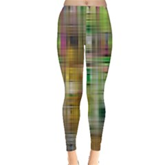Woven Colorful Abstract Background Of A Tight Weave Pattern Leggings