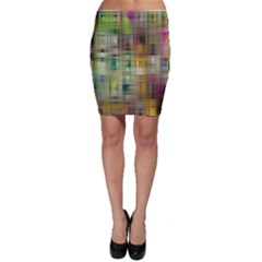 Woven Colorful Abstract Background Of A Tight Weave Pattern Bodycon Skirt