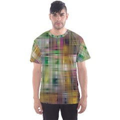 Woven Colorful Abstract Background Of A Tight Weave Pattern Men s Sports Mesh Tee