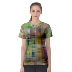 Woven Colorful Abstract Background Of A Tight Weave Pattern Women s Sport Mesh Tee