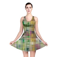 Woven Colorful Abstract Background Of A Tight Weave Pattern Reversible Skater Dress