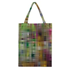 Woven Colorful Abstract Background Of A Tight Weave Pattern Classic Tote Bag