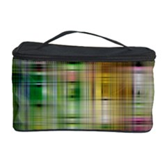 Woven Colorful Abstract Background Of A Tight Weave Pattern Cosmetic Storage Case