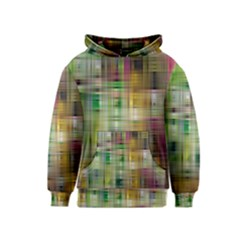 Woven Colorful Abstract Background Of A Tight Weave Pattern Kids  Pullover Hoodie