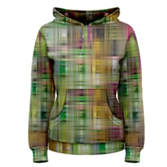 Woven Colorful Abstract Background Of A Tight Weave Pattern Women s Pullover Hoodie