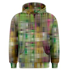 Woven Colorful Abstract Background Of A Tight Weave Pattern Men s Zipper Hoodie