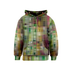 Woven Colorful Abstract Background Of A Tight Weave Pattern Kids  Zipper Hoodie