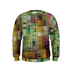 Woven Colorful Abstract Background Of A Tight Weave Pattern Kids  Sweatshirt