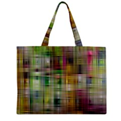 Woven Colorful Abstract Background Of A Tight Weave Pattern Zipper Mini Tote Bag