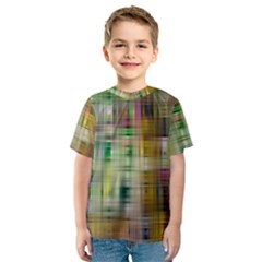 Woven Colorful Abstract Background Of A Tight Weave Pattern Kids  Sport Mesh Tee