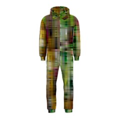 Woven Colorful Abstract Background Of A Tight Weave Pattern Hooded Jumpsuit (kids)