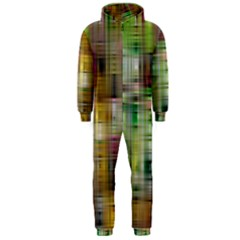 Woven Colorful Abstract Background Of A Tight Weave Pattern Hooded Jumpsuit (men)