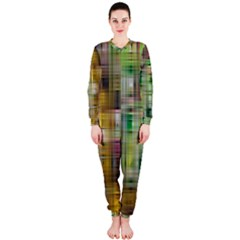Woven Colorful Abstract Background Of A Tight Weave Pattern Onepiece Jumpsuit (ladies)