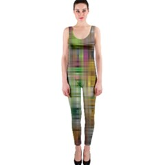 Woven Colorful Abstract Background Of A Tight Weave Pattern Onepiece Catsuit