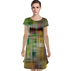 Woven Colorful Abstract Background Of A Tight Weave Pattern Cap Sleeve Nightdress