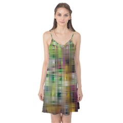 Woven Colorful Abstract Background Of A Tight Weave Pattern Camis Nightgown