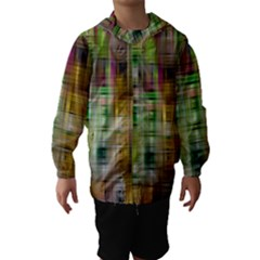 Woven Colorful Abstract Background Of A Tight Weave Pattern Hooded Wind Breaker (kids)