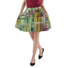Woven Colorful Abstract Background Of A Tight Weave Pattern A Line Pocket Skirt