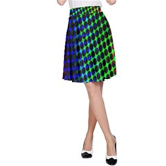 Digitally Created Halftone Dots Abstract A Line Skirt