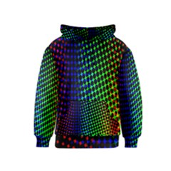 Digitally Created Halftone Dots Abstract Kids  Zipper Hoodie