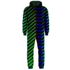 Digitally Created Halftone Dots Abstract Hooded Jumpsuit (men)