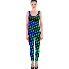 Digitally Created Halftone Dots Abstract Onepiece Catsuit